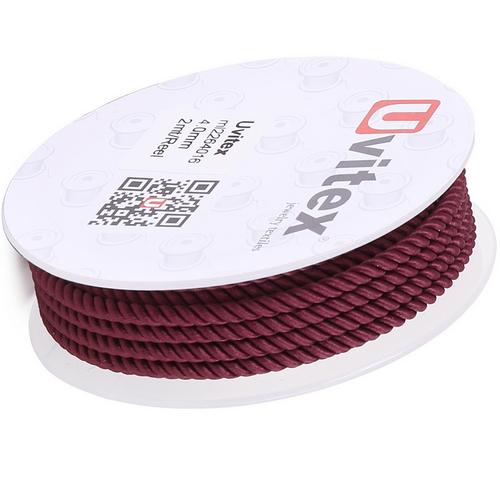 ∅4.0 - М226 - Шелковый плетеный шнур   Цвет 16