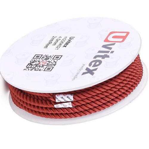 ∅4.0 - М226 - Шелковый плетеный шнур   Цвет 21