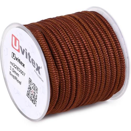 ∅3.0 - М228 - Шелковый плетеный шнур | Цвет 07