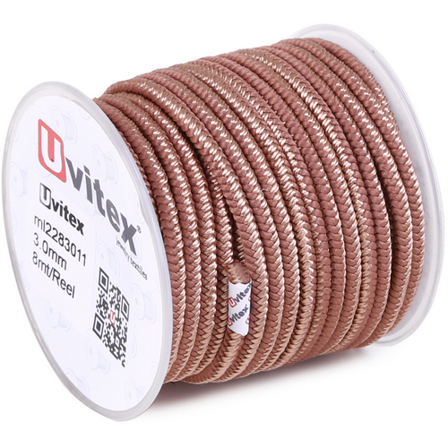 ∅3.0 - М228 - Шелковый плетеный шнур | Цвет 11