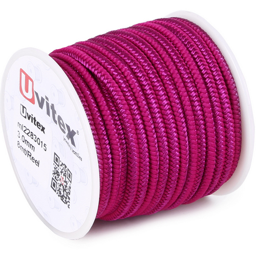 ∅3.0 - М228 - Шелковый плетеный шнур | Цвет 15