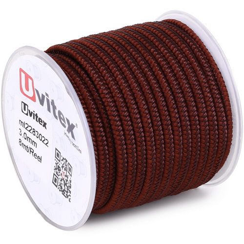∅3.0 - М228 - Шелковый плетеный шнур | Цвет 22