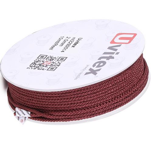 ∅2.0 - М229 - Шелковый плетеный шнур | Цвет 14
