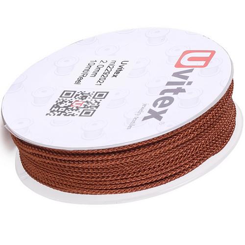 ∅2.0 - М229 - Шелковый плетеный шнур | Цвет 21