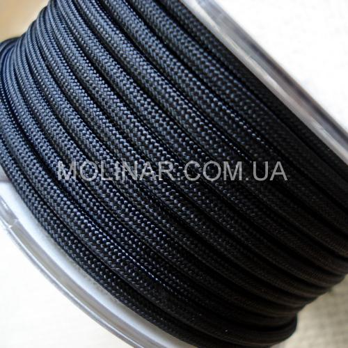 ∅5.0 - М216 - Шелковый плетеный шнур | Черный