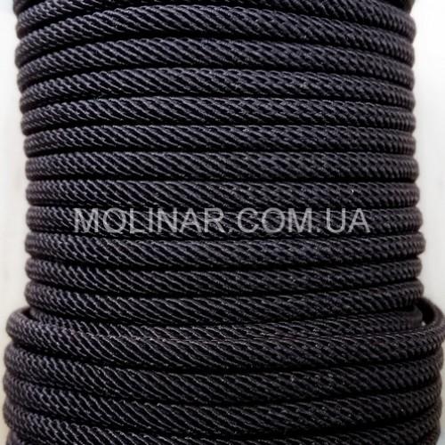 ∅2.5 - М221 - Шелковый плетеный шнур | Черный