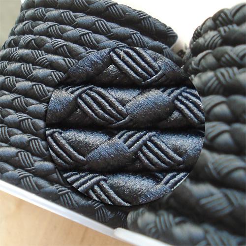 ∅5.0 - М222 - Шелковый плетеный шнур | Черный