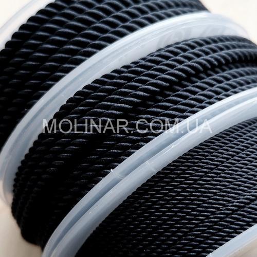 ∅1.5 - М226 - Шелковый плетеный шнур | Черный