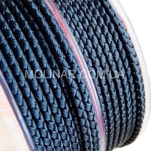 ∅2.0 - М2016 - Шелковый плетеный шнур | Черный
