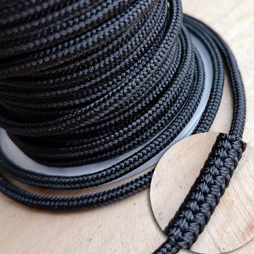 ∅3.0 - М232- Шелковый плетеный шнур | Черный