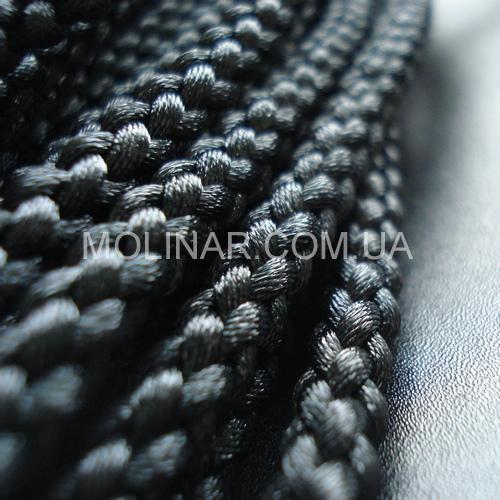 ∅6.0 - Шелковый плетеный шнур | Черный
