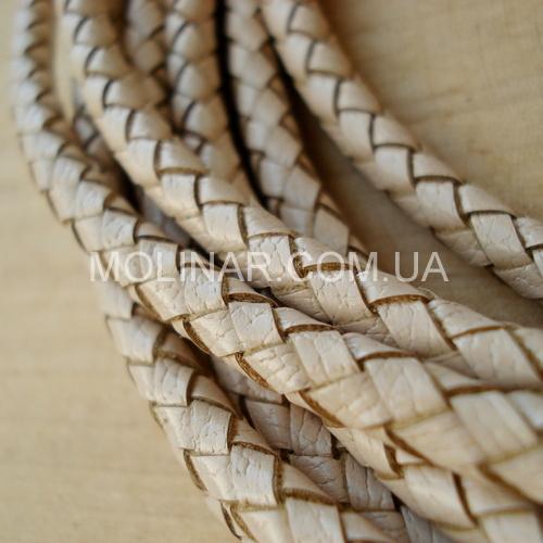 ∅5.0 Кожаный плетеный шнур 506 (NAPPA) | Бежевый