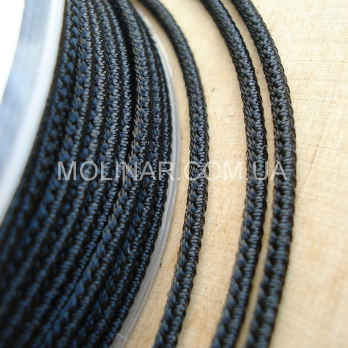 ∅2.0 - М232- Шелковый плетеный шнур   Черный