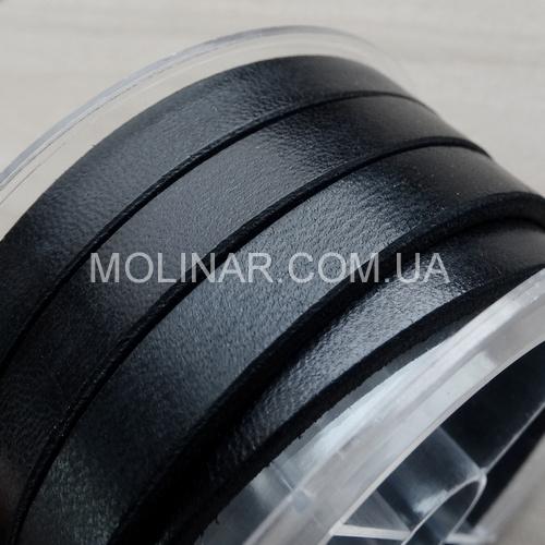8.0 х 2.0 Кожаный плоский шнур HQ (Германия) | Черный