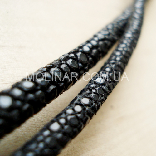 ∅6.0 СКАТ (Stingray) кожаный круглый шнур | Черный