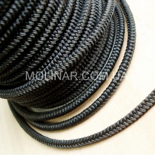 ∅3.0 - М228 - Шелковый плетеный шнур | Черный