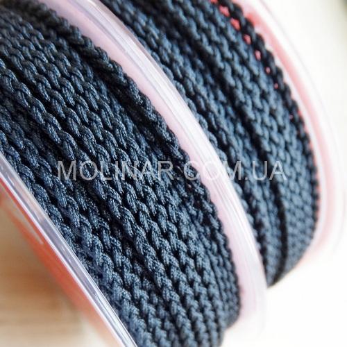 ∅2.5 - М245 - Шелковый плетеный шнур | Черный