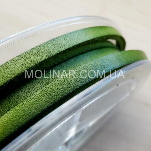 3.5 х 2.5 Кожаный шнурок | Зеленый