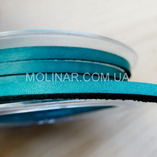 3.5 х 2.5 Кожаный шнурок | Бирюза