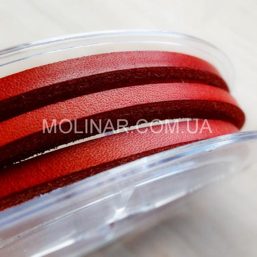 3.5 х 2.5 Кожаный шнурок | Красный