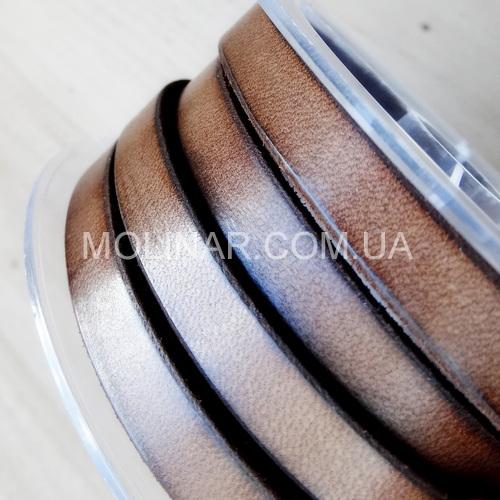 10.0 х 3.0 Кожаный плоский шнур HQ (Krast) | Коричневый