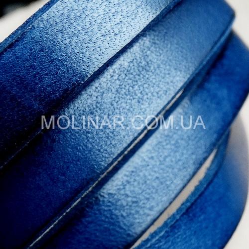 10.0 х 2.0 Кожаный плоский шнур HQ (Германия) | Синий