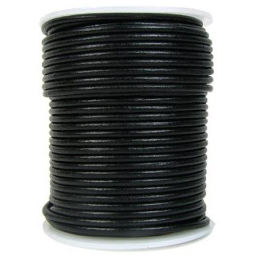 ∅1.0 Кожаный шнурок (Индия) | Черный