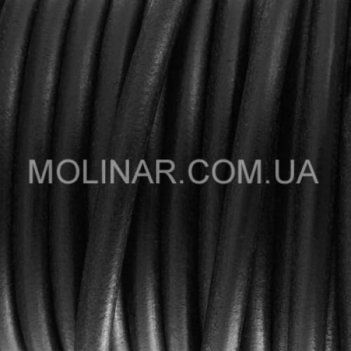 ∅2.0 Кожаный шнурок HQ (Индия) | Черный