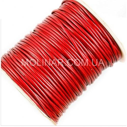 ∅2.0 Вощеный синтетический шнур | Красный