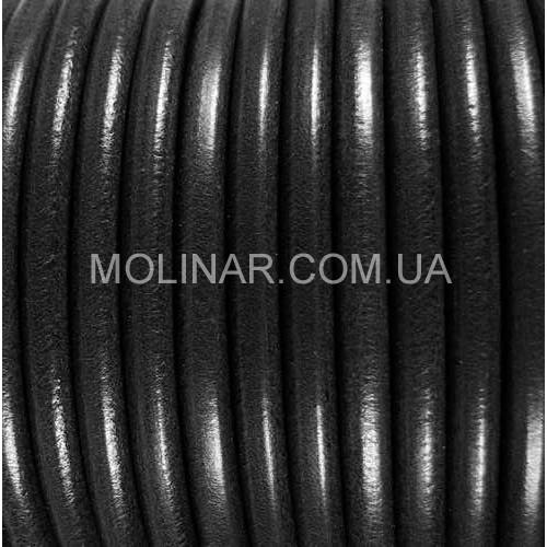 ∅5.0 Кожаный шнурок HQ (Индия) | Черный