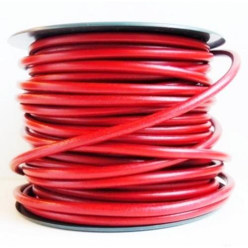 ∅2.0 Кожаный шнурок (Индия) | Красный