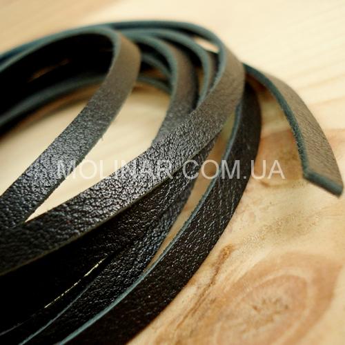 3.0 мм - Тесьма из натуральной кожи | Черный